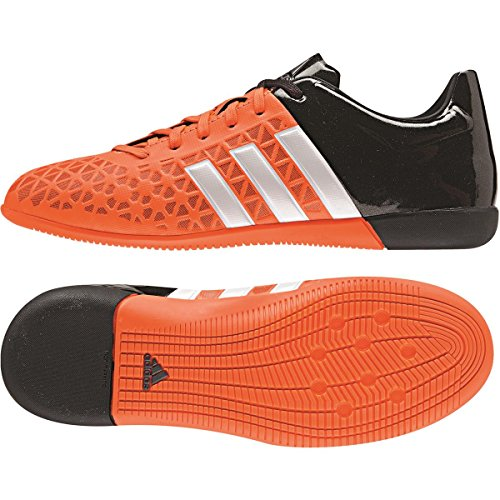 Herren Futsalschuhe, adidas, Kinder, Ace 15.3 IN J, Orange / Weiß / Schwarz
