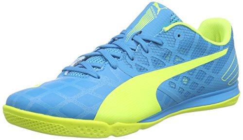 Puma evoSPEED Sala 3.4, Herren Futsalschuhe, hellblau-gelb