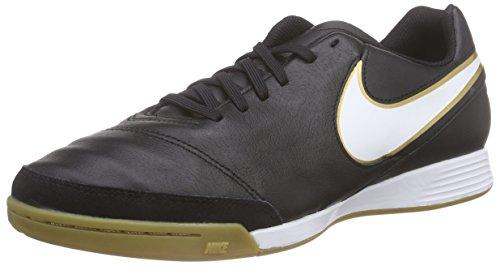 Nike Tiempo Genio II Leather IC, Hallen-Fußballschuhe, schwarz