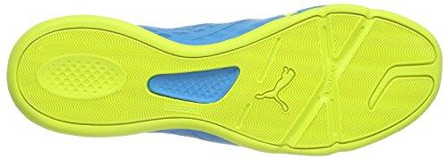 Puma evoSPEED Sala 3.4, Herren Futsalschuhe, hellblau gelb